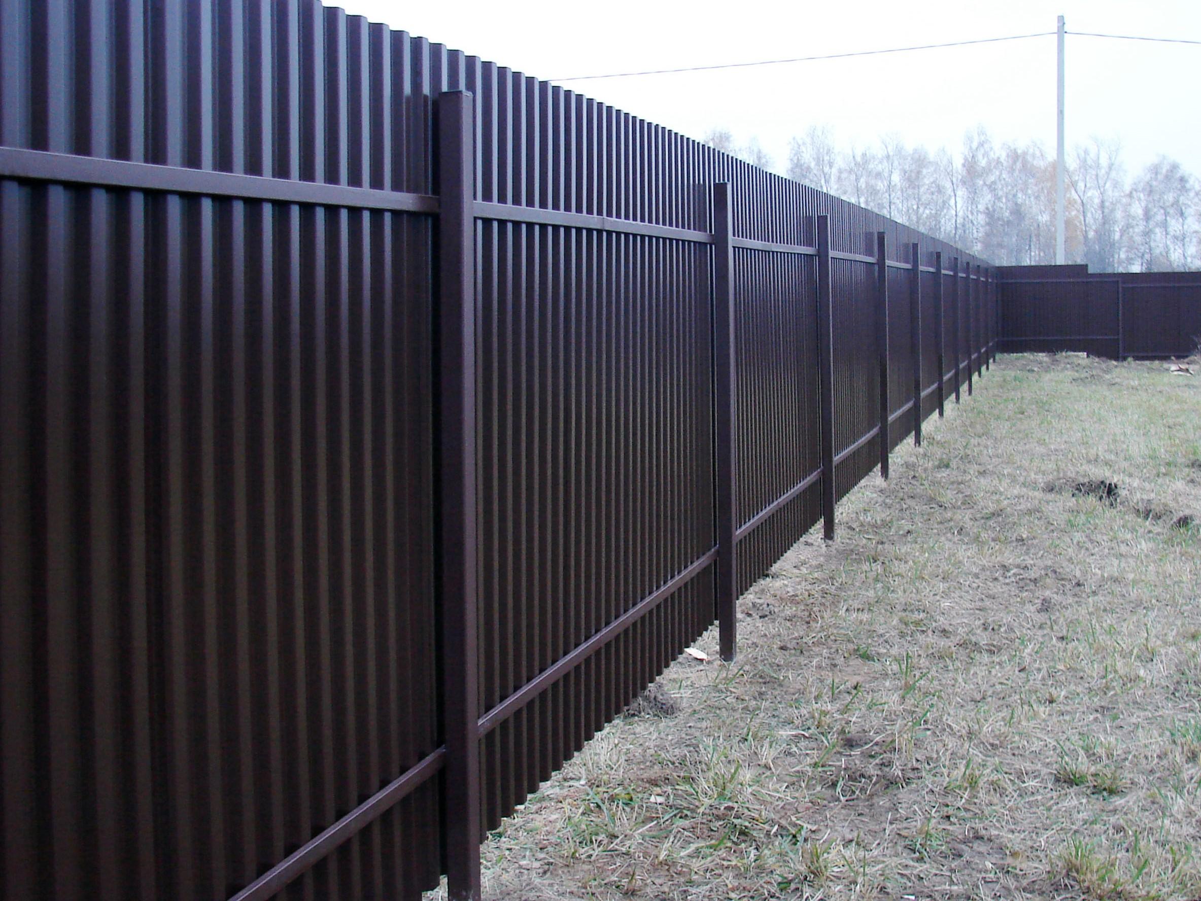 забор из проф. листа